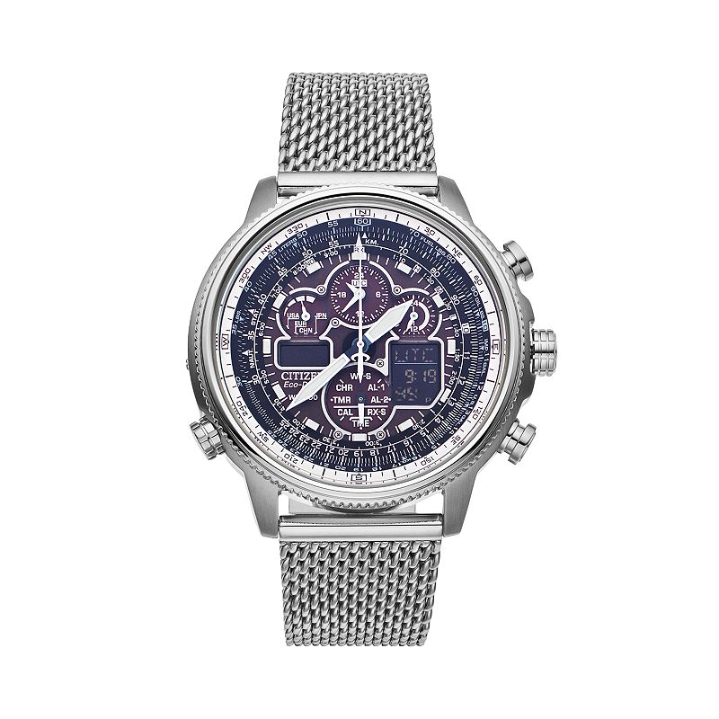 Citizen Men's Eco-Drive Navihawk A-T Stainless Steel Chronograph Watch - JY8030-83E