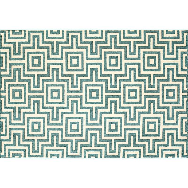 Momeni Baja Geometric Indoor Outdoor Rug - 20'' x 43''