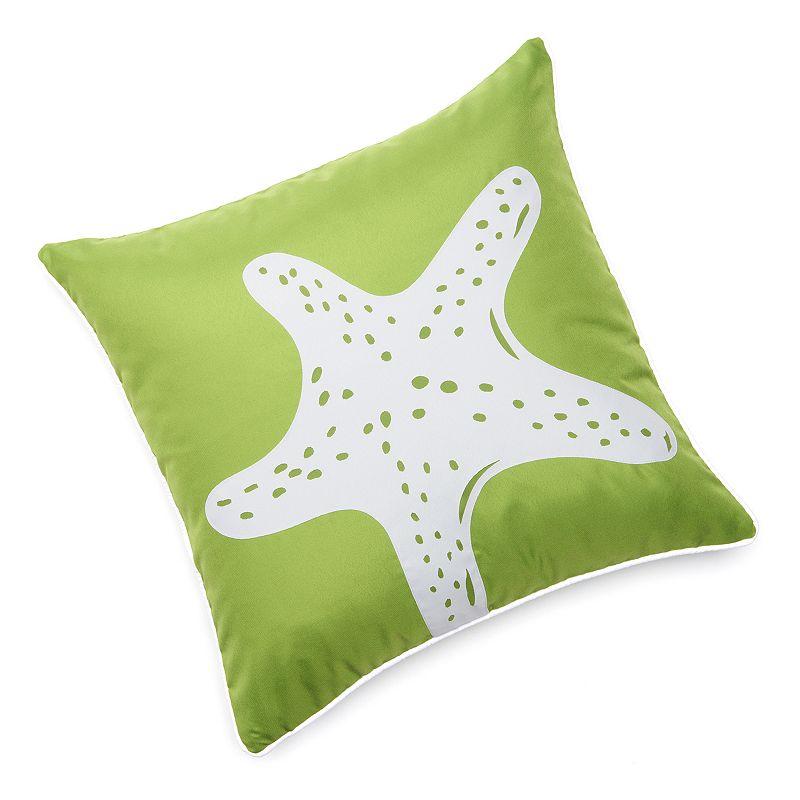 Edie, Inc. Starfish Laser-Cut Indoor Outdoor Decorative Pillow