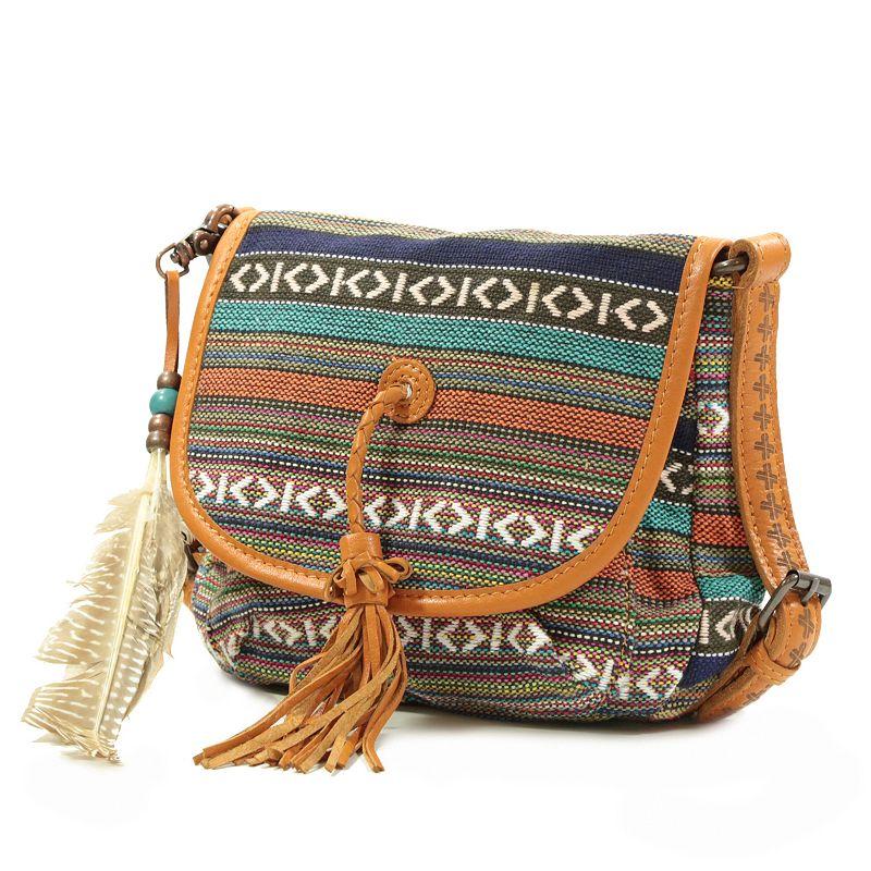 The Same Direction Navajo Woven Flap Crossbody Bag