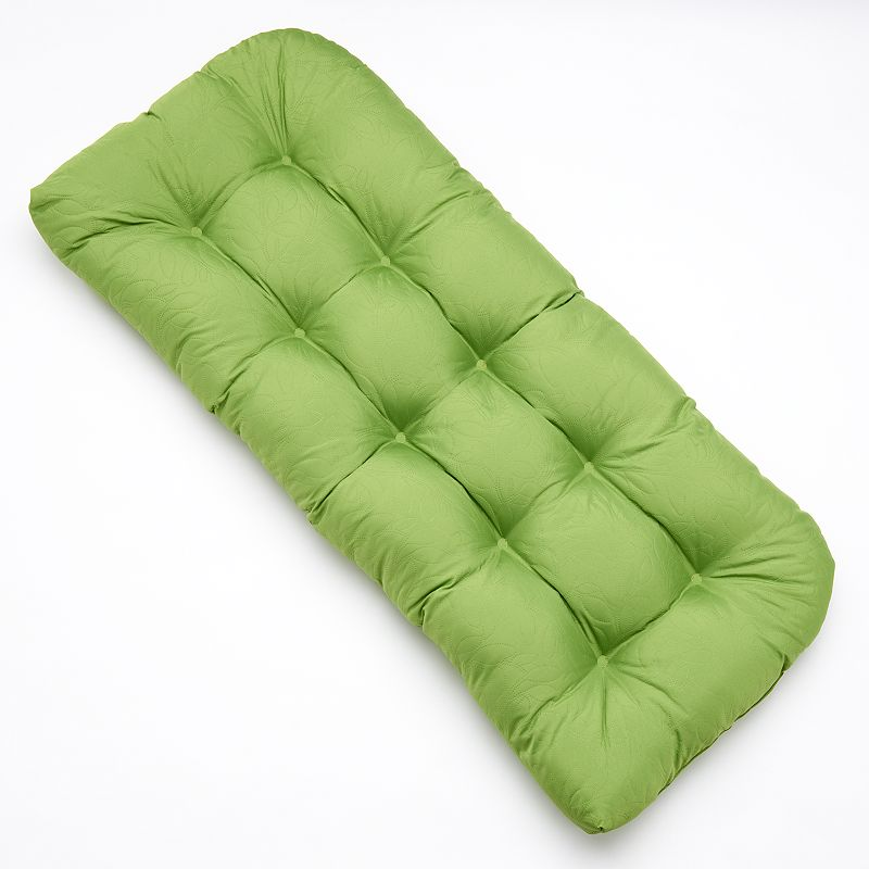 Edie Inc. Sonic Leaf Indoor Outdoor Quilted Contour Bench Cushion