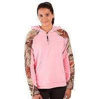 Huntworth 1/4-Zip Fleece Camouflage Hoodie - Women's