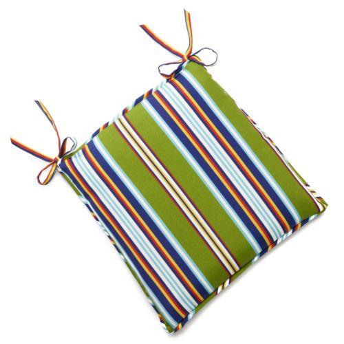 Edie Inc. Classic Stripe Indoor Outdoor Seat Pad