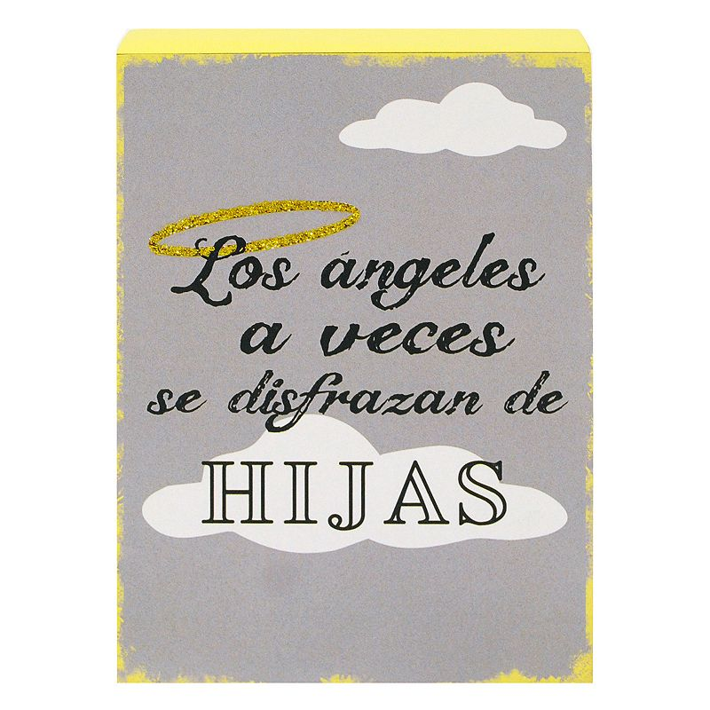 New View ''Los Angeles a Veces'' Wooden Box Clever Caption Sign Art