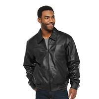 Vintage Leather Split Nappa Leather Men's Jacket (Brown/Black)