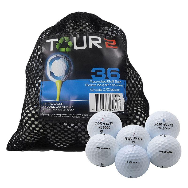 Nitro 36-pk. Tour 2 Topflite Recycled Golf Balls, Multi/None