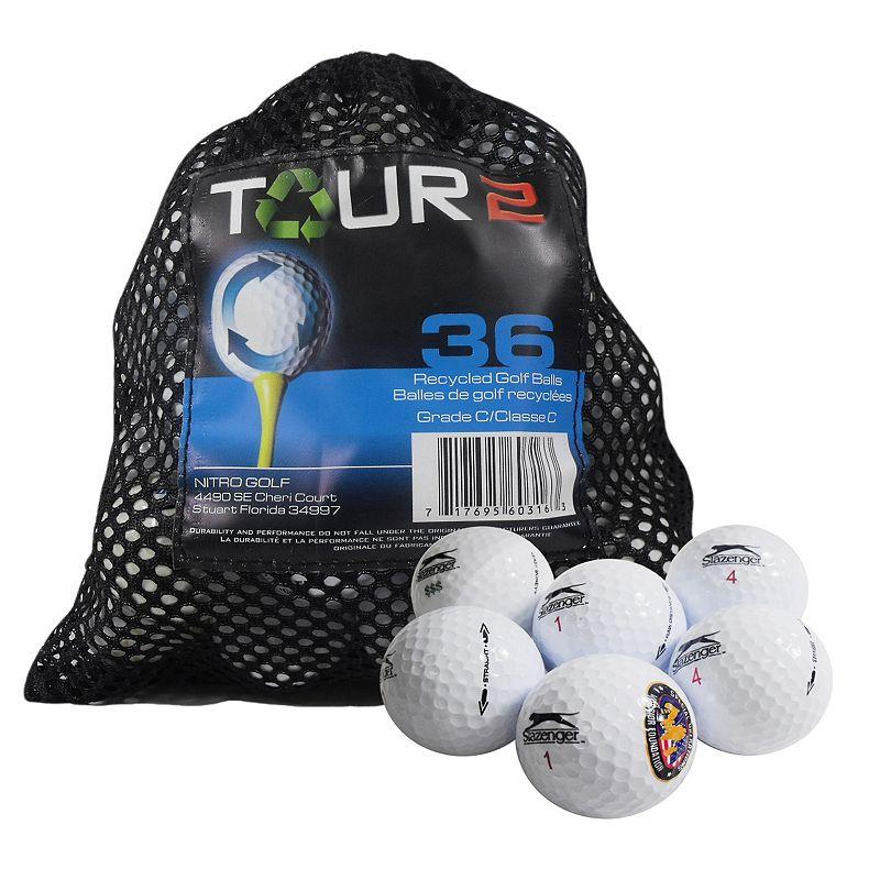 Nitro 36-pk. Tour 2 Slazenger Recycled Golf Balls, Multi/None