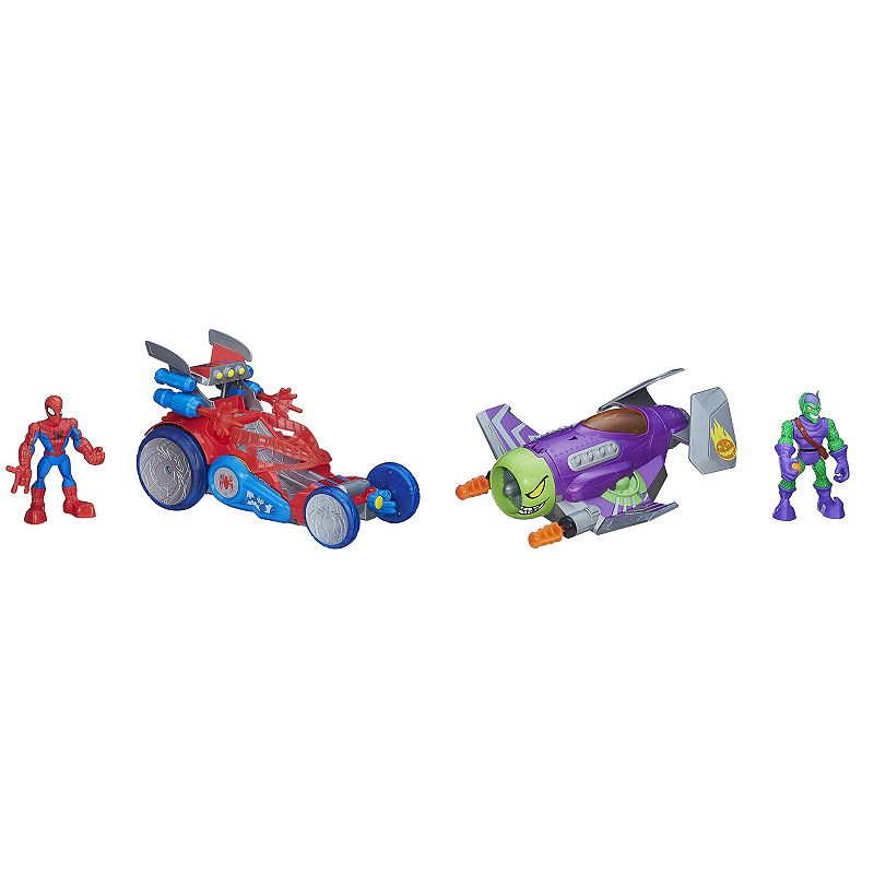 Playskool Heroes Marvel Super Hero Adventures Spider-Man vs. Green Goblin Set by Hasbro