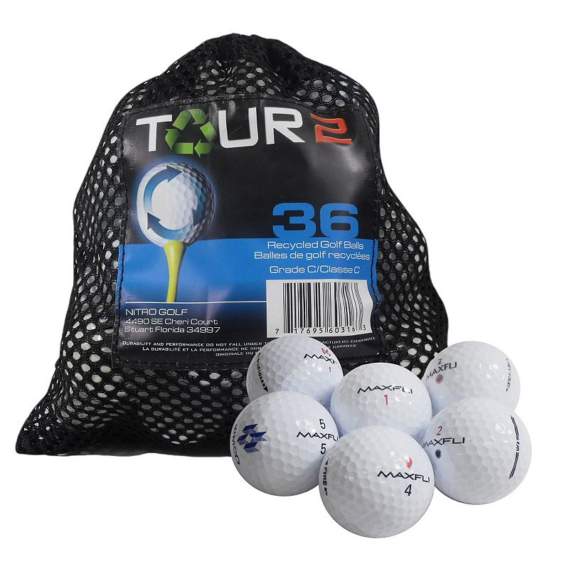 Nitro 36-pk. Tour 2 Maxfli Recycled Golf Balls, Multi/None