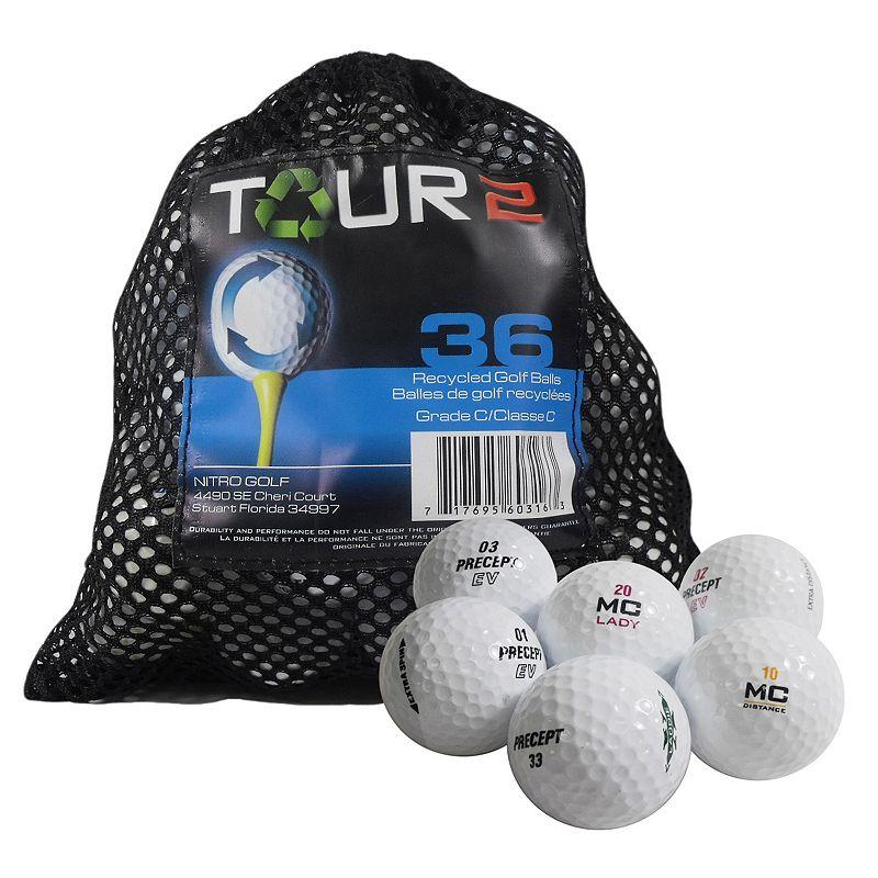 Nitro 36-pk. Tour 2 Precept Recycled Golf Balls, Multi/None