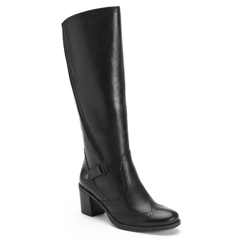 Bussola Style Hazel Wingtip Leather Riding Boots - Women