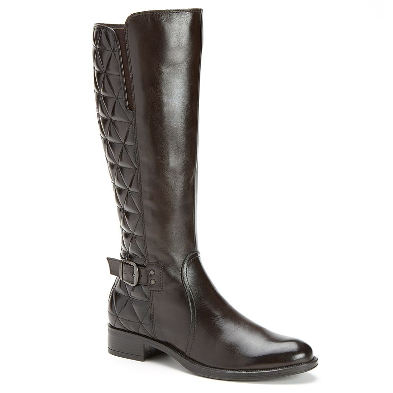 Bussola Style Mallaga Quilted Leather Riding Boots - Women