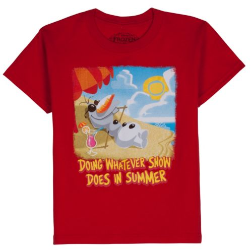 Disney Frozen Olaf Snow In Summer Tee - Boys 4-7