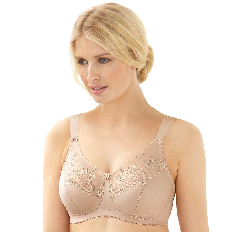 Glamorise Bra: Soft Shoulders Sheer Wire-Free Full-Figure Minimizer Bra 9835 - Women's