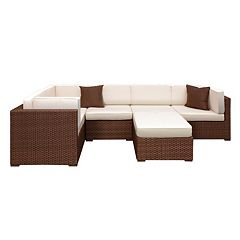 Atlantic Venetian 6-pc. Sectional Patio Set Outdoor by