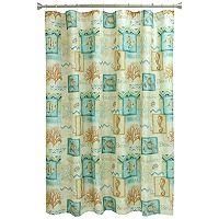 Chevron Beach Fabric Shower Curtain