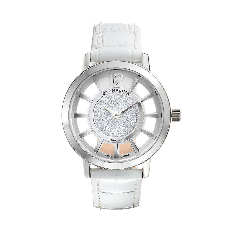 Stuhrling Original Women's Lady Edinburgh Watch, White