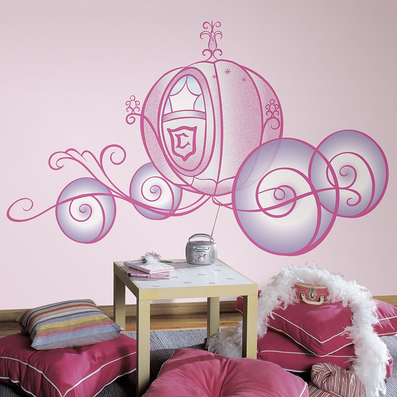 Disney Princess Carriage Peel & Stick Wall Stickers