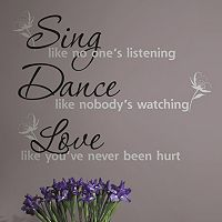 'Dance, Sing, Love'' Peel & Stick Wall Stickers
