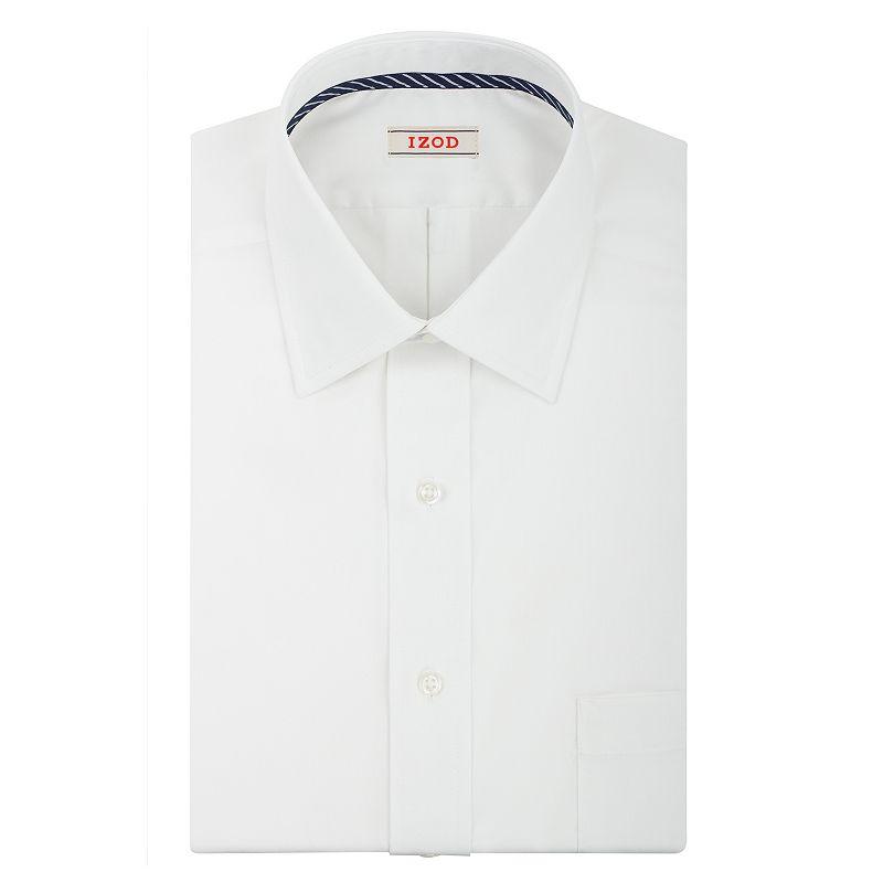 Men's IZOD Solid Twill Regular-Fit Spread-Collar Dress Shirt
