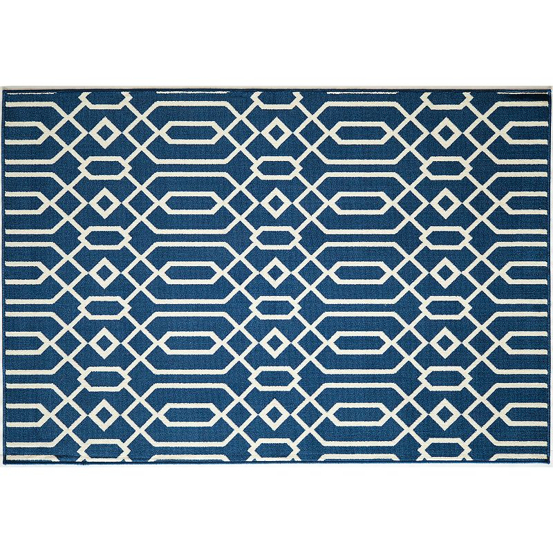 Momeni Baja Scroll Indoor Outdoor Rug - 20'' x 42''