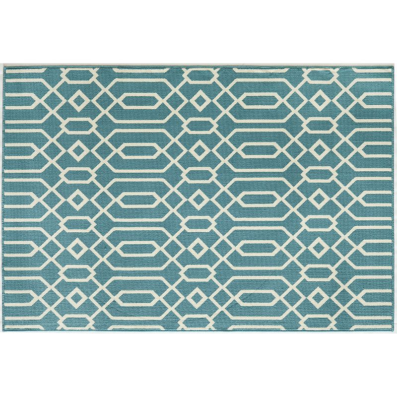 Momeni Baja Scroll Indoor Outdoor Rug - 5'3'' x 7'6''