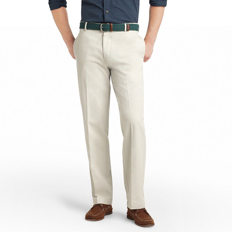 Men's IZOD Madison Classic-Fit No-Iron Comfort Stretch Flat-Front Chino Pants