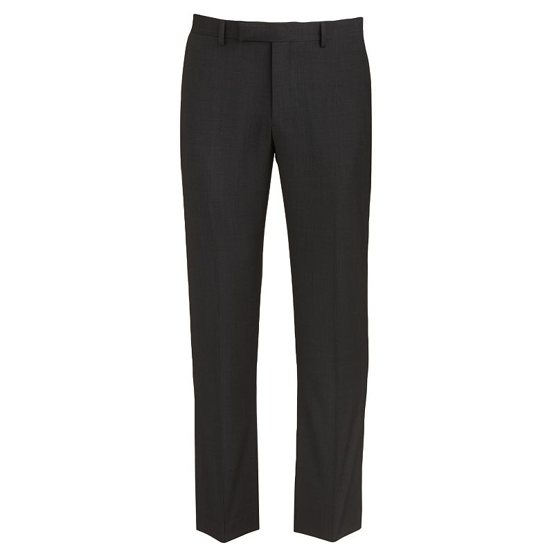 Men's Marc Anthony Modern-Fit Wool Flat-Front Black Suit Pants