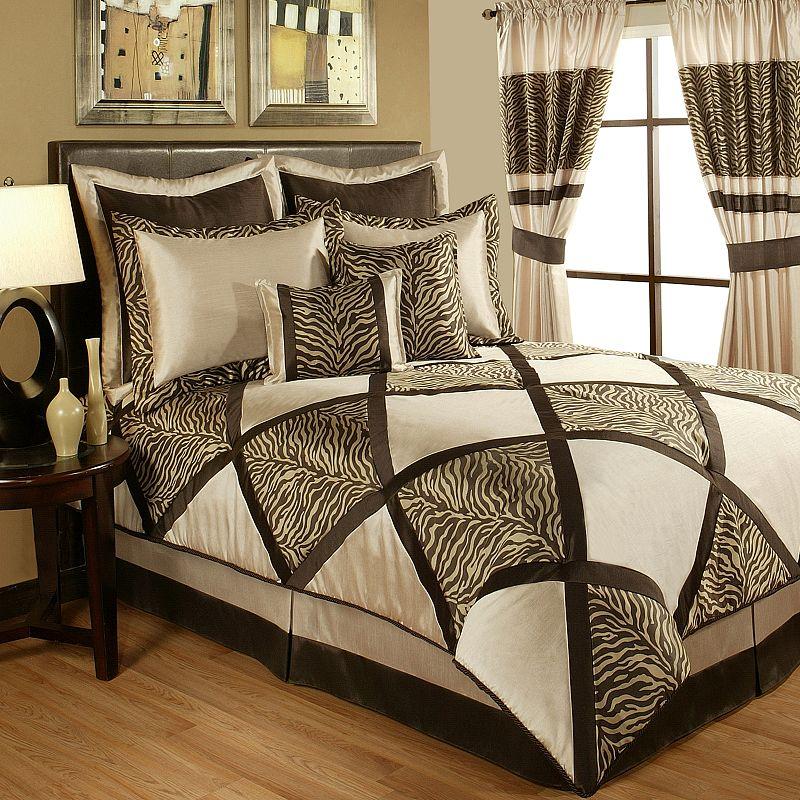 Sherry Kline True Safari Taupe 8-pc. Comforter Set - King