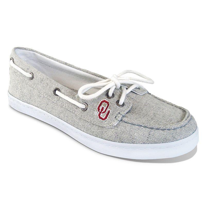 Women's Campus Cruzerz Oklahoma Sooners Kauai Boat Shoes