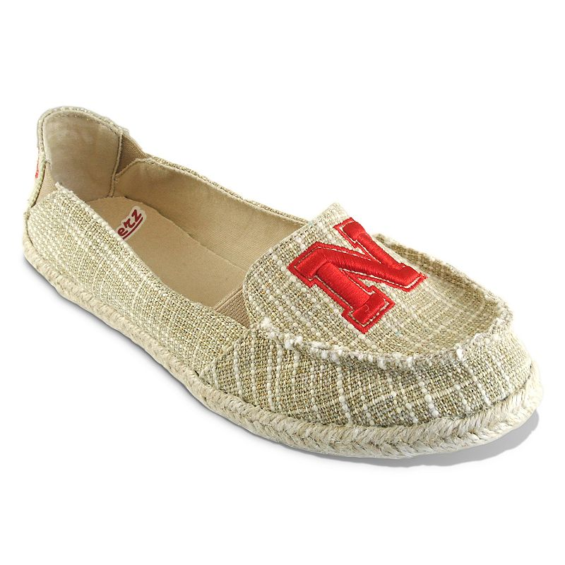 Women's Campus Cruzerz Nebraska Cornhuskers Sparkle Cabo Slip-On Shoes