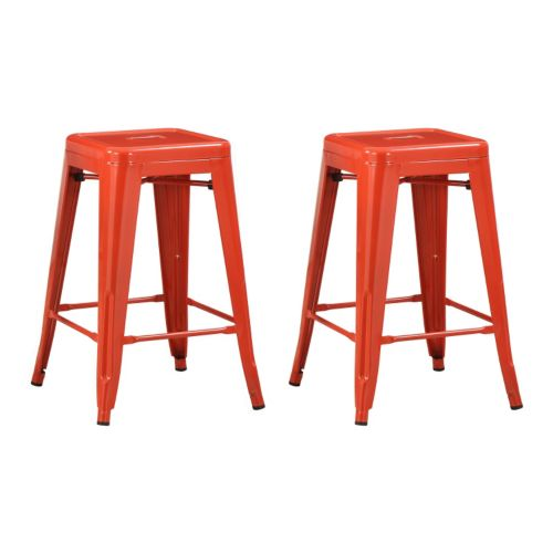 Coaster 2-piece Metal Counter Stool Set