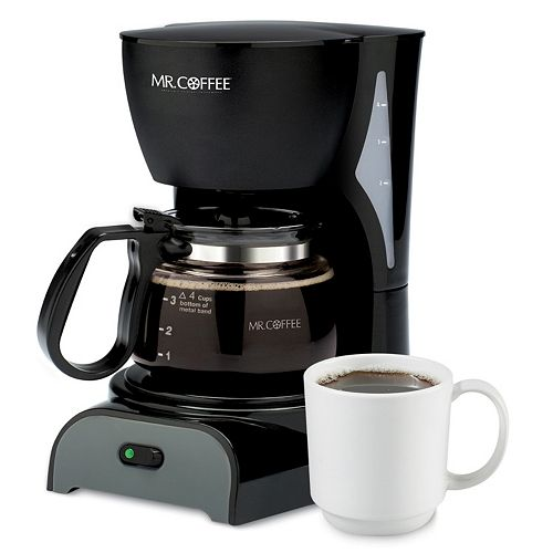 Mr. Coffee Switch DR Series 4-Cup Coffee Maker, Black Price Tracking