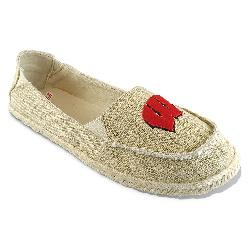 Women's Campus Cruzerz Wisconsin Badgers Sparkle Cabo Slip-On Shoes