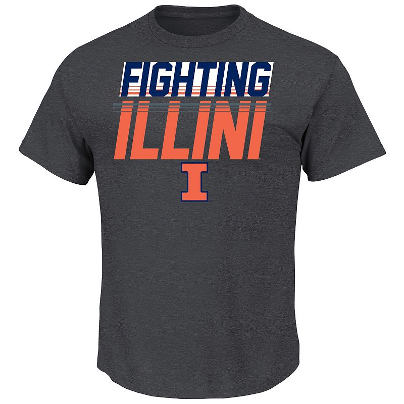 Men's Section 101 by Majestic Illinois Fighting Illini Best At This Tee