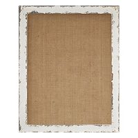 Parisian Home Burlap Framed Wall Memo Board