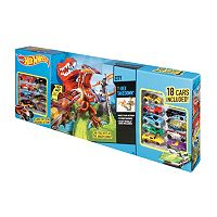 Hot Wheels T-Rex Takedown Set With 18 Cars