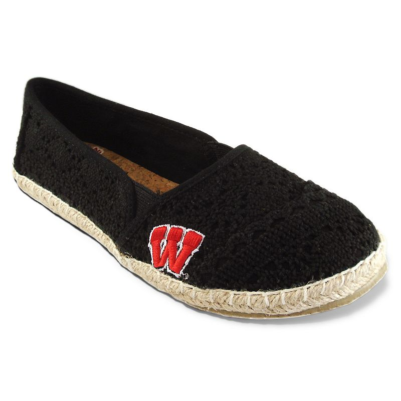 Campus Cruzerz Wisconsin Badgers Napili Slip-On Shoes - Women