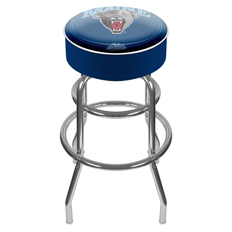 Maine Black Bears Padded Swivel Bar Stool