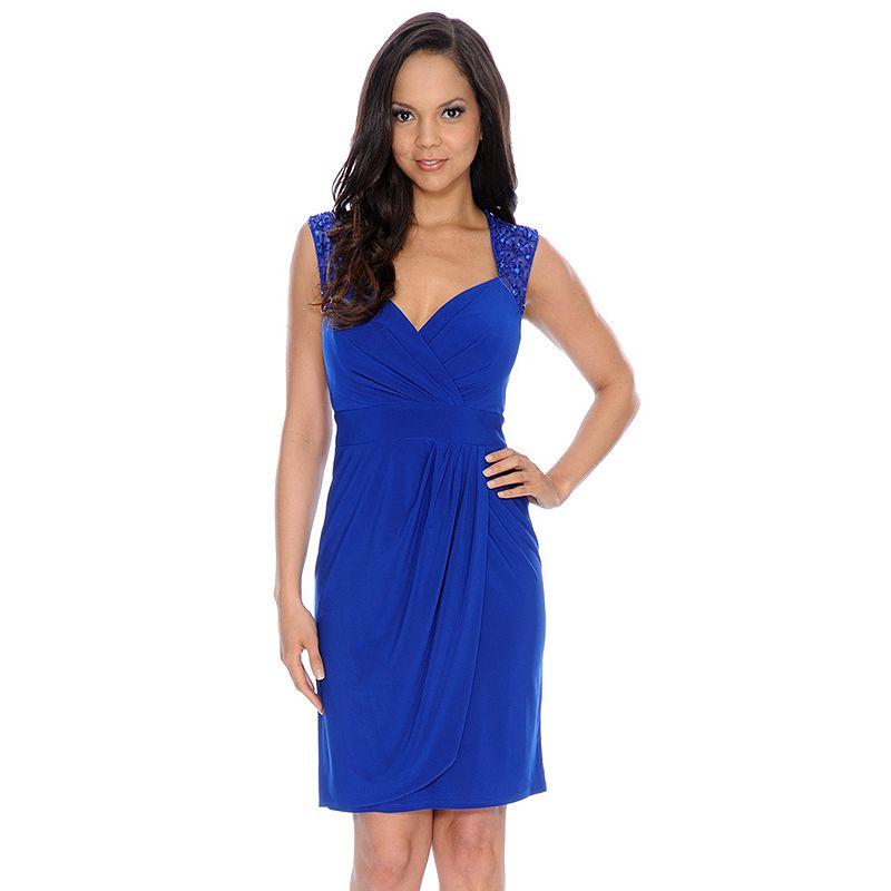 1 by 8 Embellished Faux-Wrap Dress - Women's
