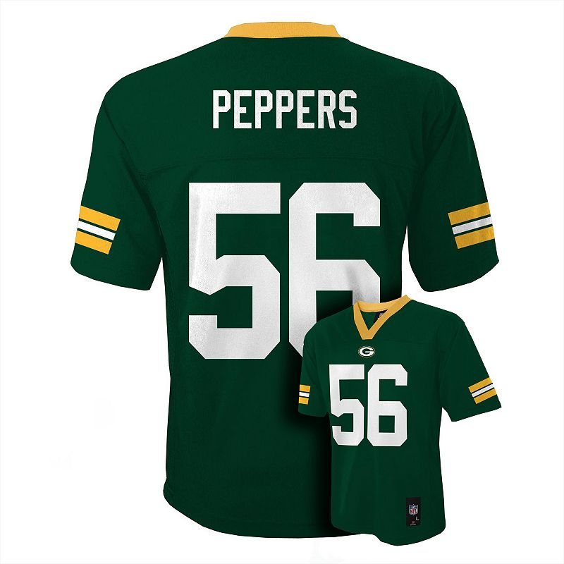 Boys 8-20 Green Bay Packers Julius Peppers NFL Jersey