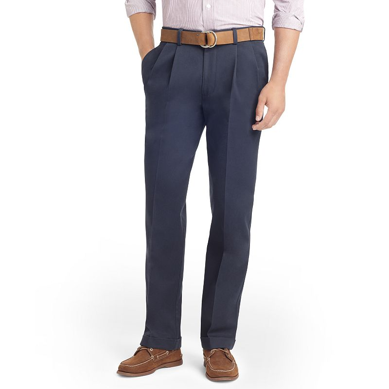 Men's IZOD Madison Classic-Fit No-Iron Comfort Stretch Double-Pleated Chino Pants