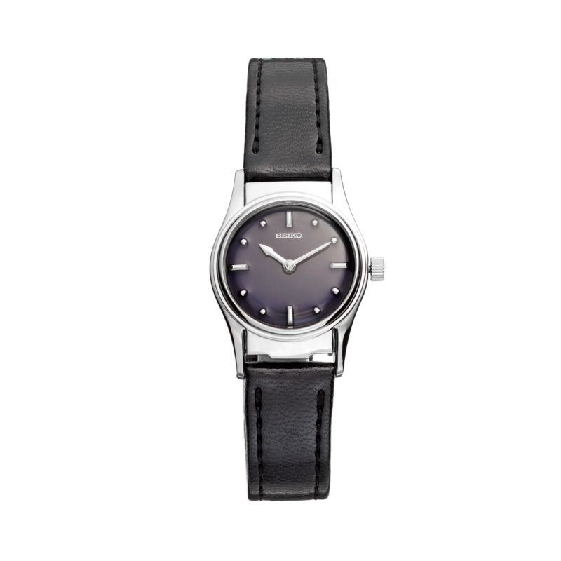 Seiko Women's Braille Leather Watch - SWL001, Black thumbnail