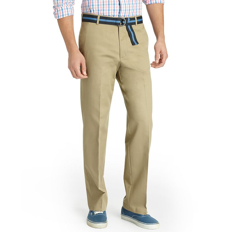 Men's IZOD Madison Straight-Fit No-Iron Comfort Stretch Flat-Front Chino Pants