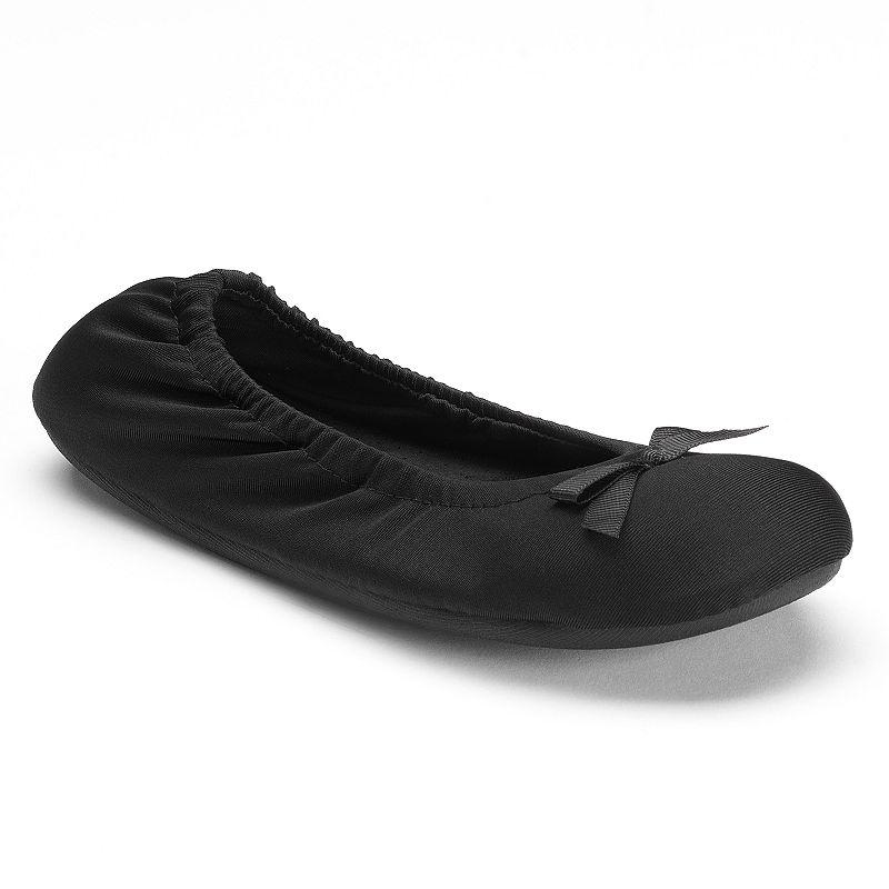 Dearfoams Women's Microfiber Ballet Slippers