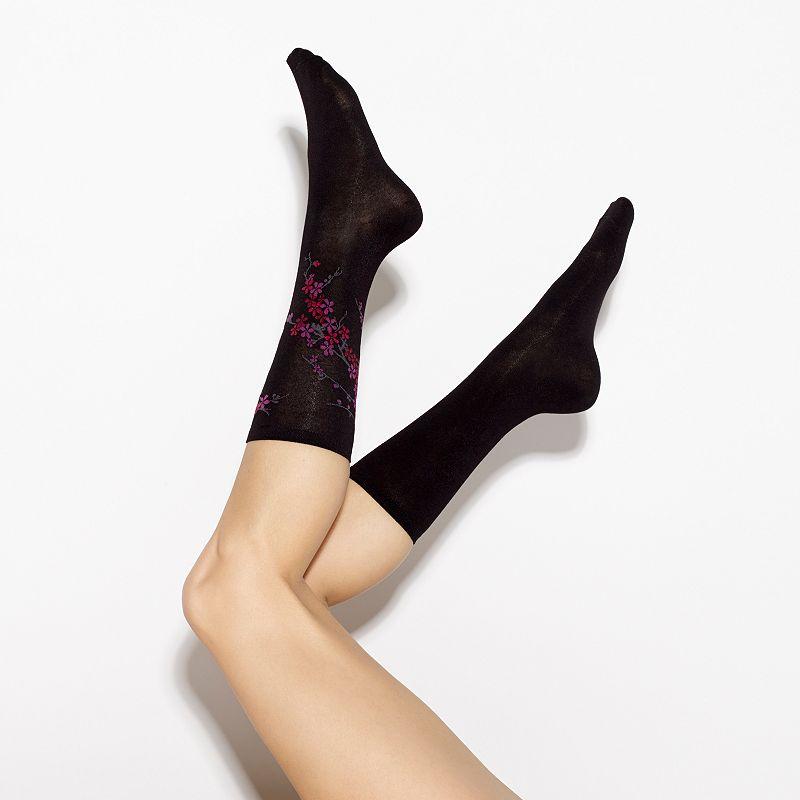 Simply Vera Vera Wang 2-pk. Blossom Crew Socks