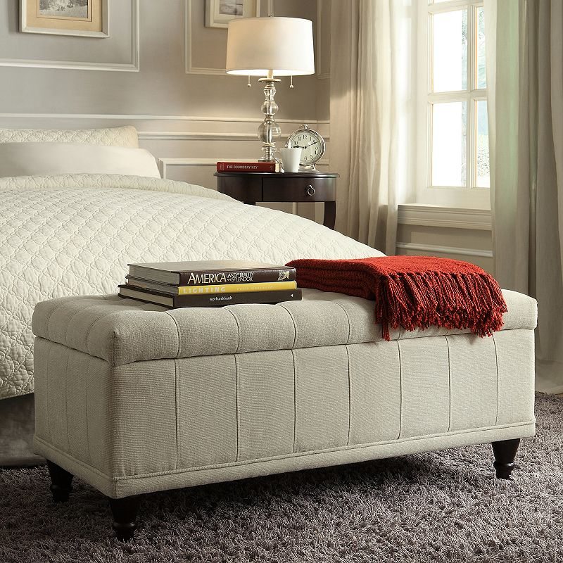 HomeVance Jolie Tufted Storage Bench