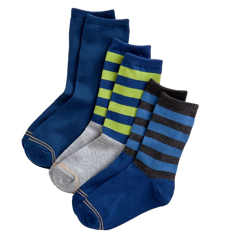 Boys GOLDTOE 3-pk. Crew Dress Socks