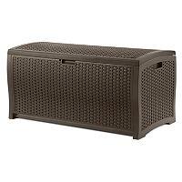 Suncast Basketweave 99-Gallon Storage Box - Outdoor
