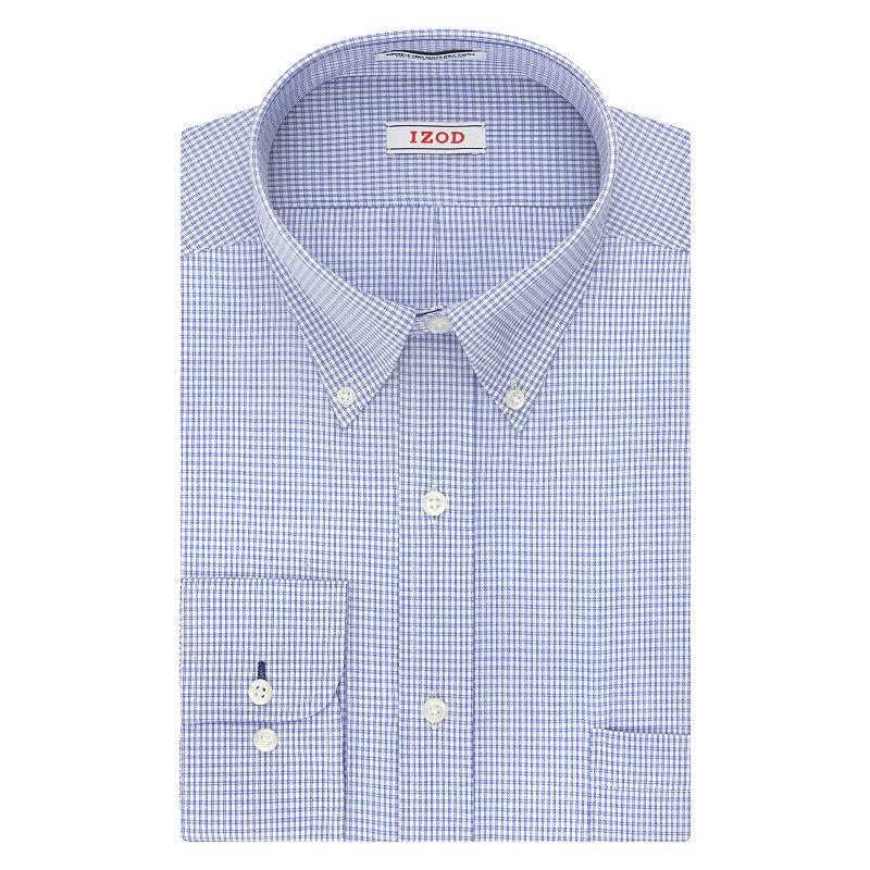 Big & Tall IZOD Performax Wrinkle-Free Button-Down Collar Dress Shirt